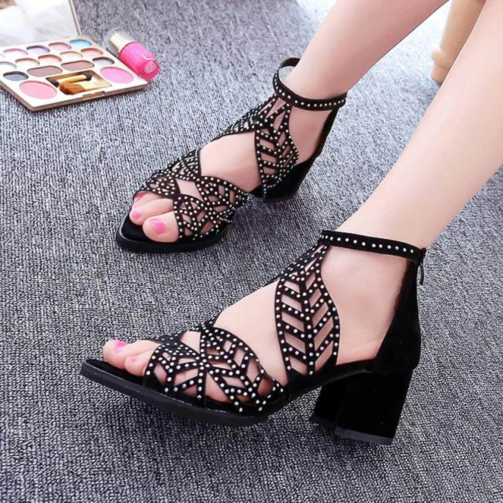 Teresastore Vintage Summer Women Shoes Sandals Platform Wedge High Heels Bohemian Shoes By Teresastore.