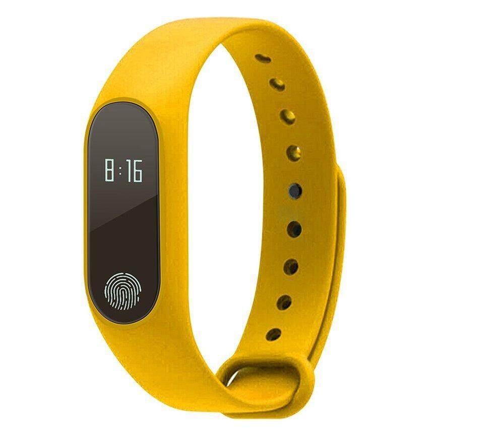 บลูทูธสมาร์ท M2 หัวใจอัตราการตรวจสอบกันน้ำ IP67 ข้อความ/สายเตือนสุขภาพฟิตเนสสายรัดข้อมือสมาร์ทสร้อยข้อมือสำหรับแอนดรอยด์ iOS - นานาชาติ