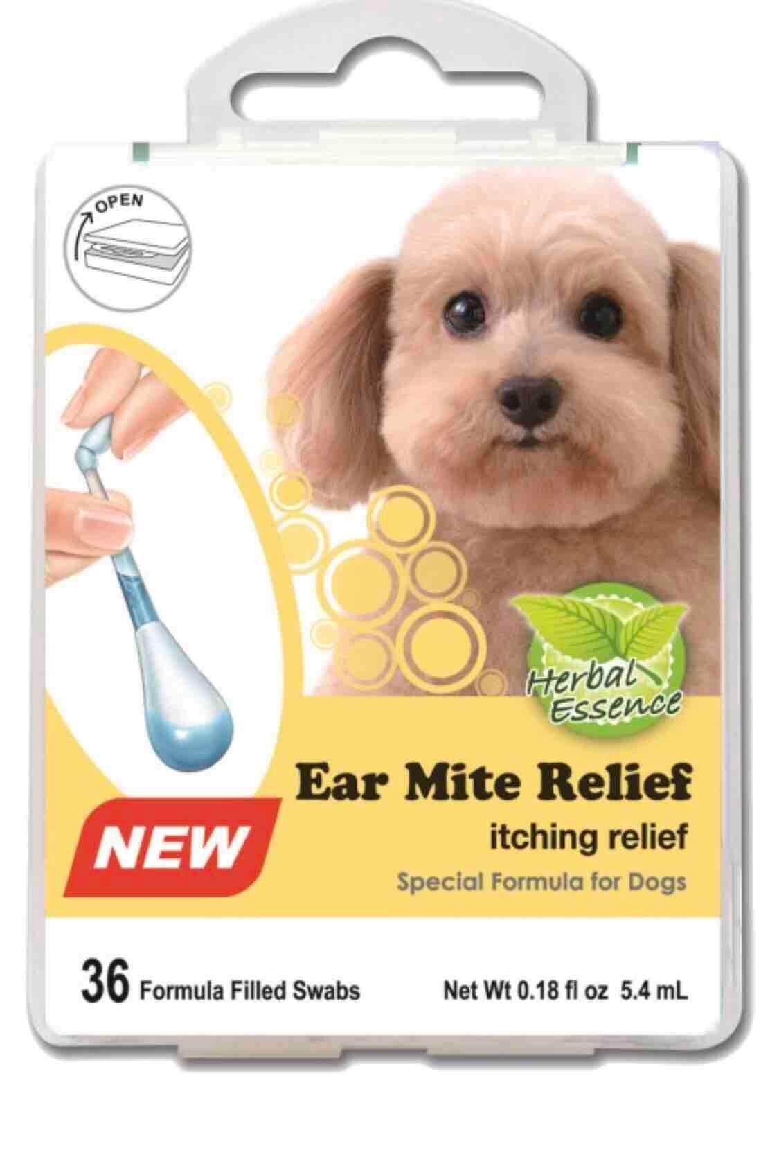 Swab Kits Dog Ear Mite Relief คอตตอนบัดมีน้ำยาในตัว.