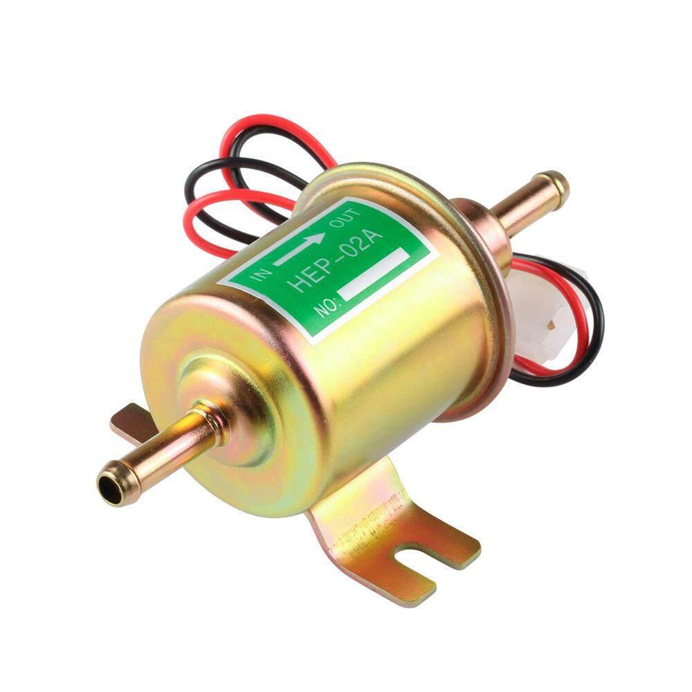 Mo Hot 12V/24V Gas Diesel Fuel Pump Inline Low Pressure Electric Fuel Pump  Models:Gold 12V