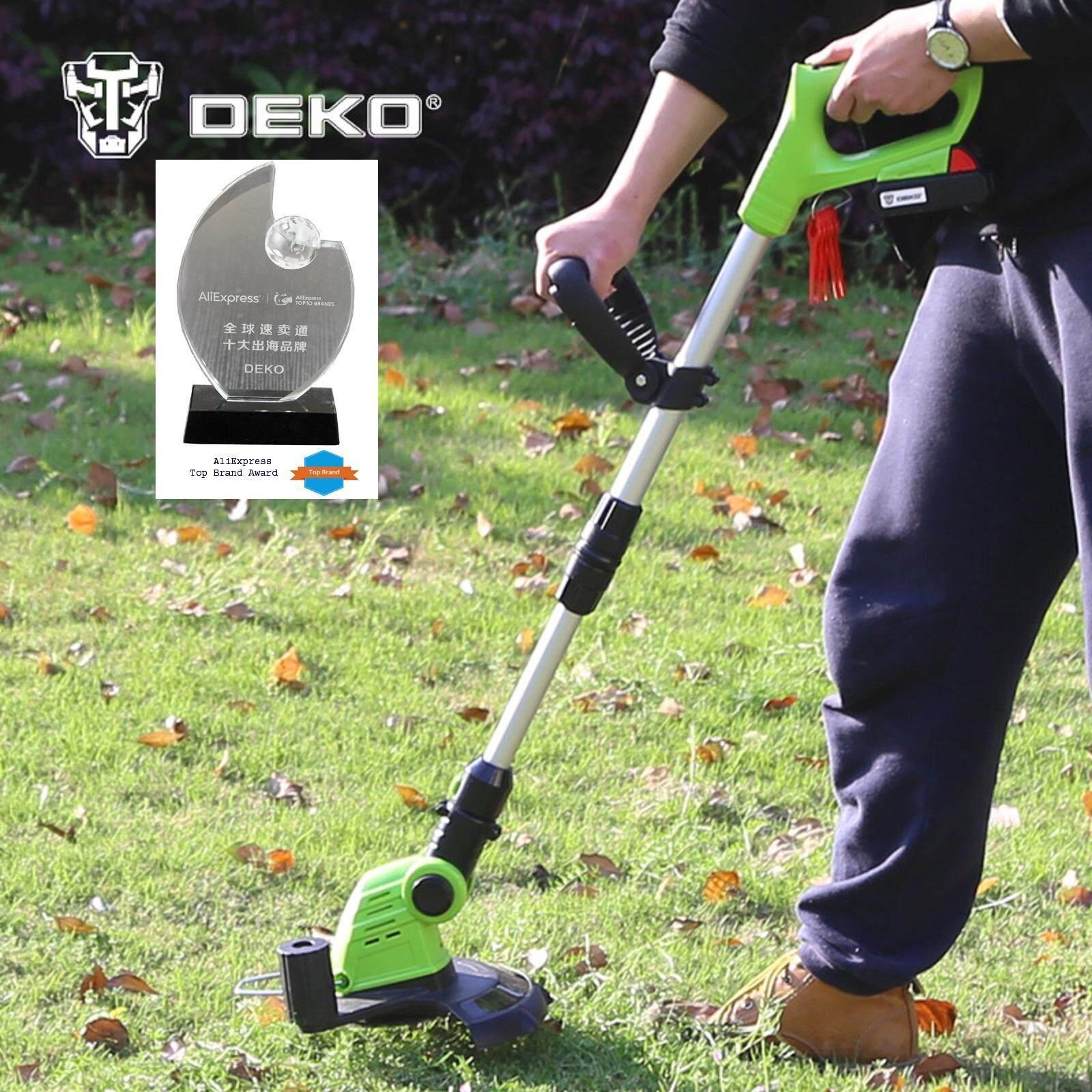 Deko เครื่องตัดหญ้าไร้สาย 20v Lithium Battery Cordless Grass Cutter Trimmer.