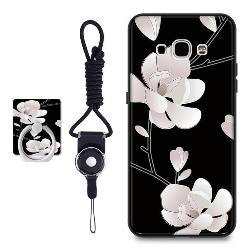 3D Relief TPU Soft Casing Ponsel untuk Samsung Galaxy A8/A8000 (Multicolor)