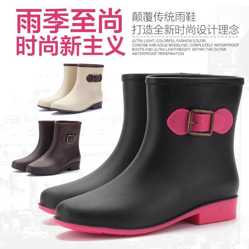 Detail Gambar Musim semi dan musim panas jelly sepatu boots hujan wanita  Korea Selatan modis Pendek d73e64b13a