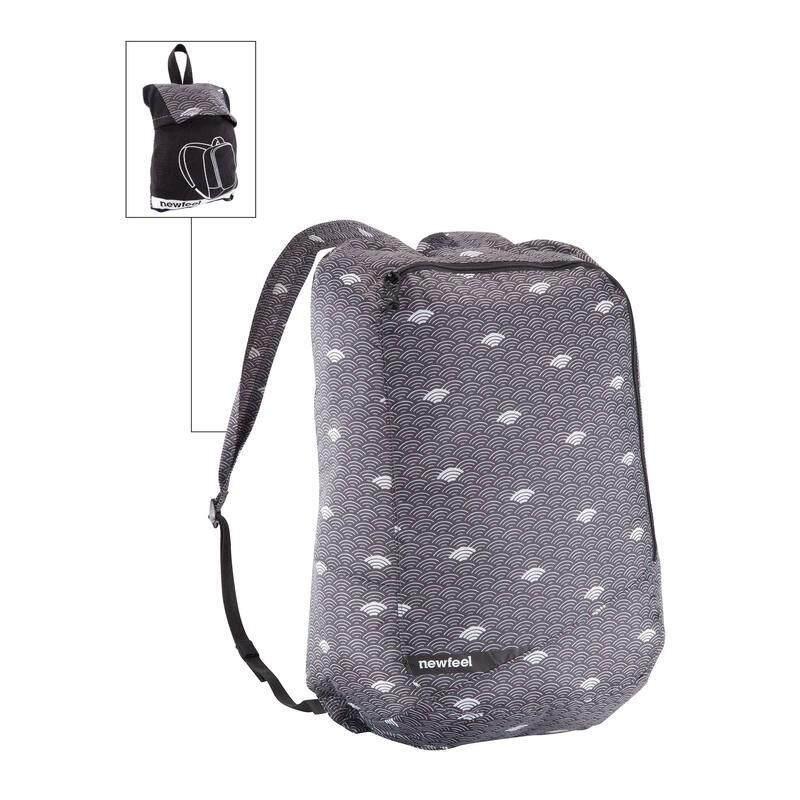 เป้สะพายหลังพับเก็บได้รุ่น Pocket Bag (สีเทาลายเมฆ).