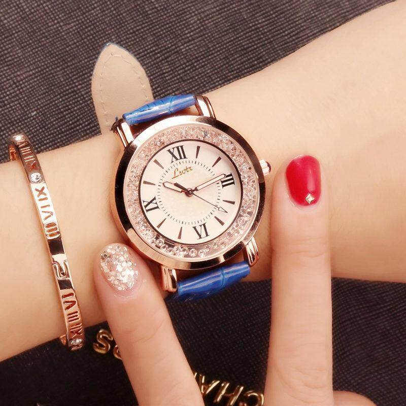 2018 เสื้อผ้าแฟชั่น Womens Korean-Style Ultra Slim Waterpoof Quartz Watch.