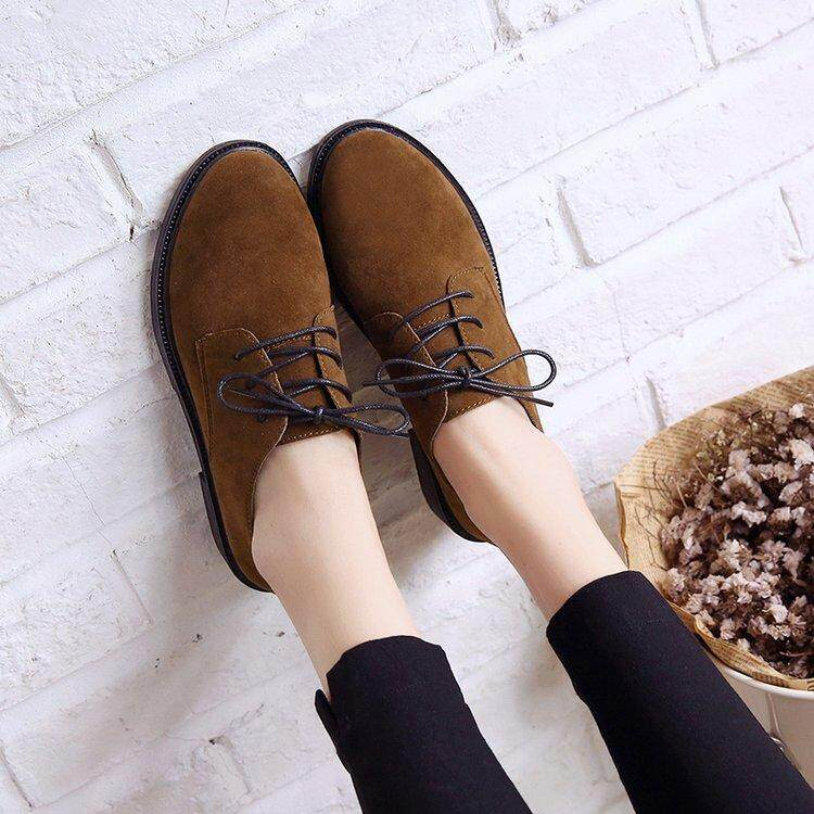 e8f2a90370f5d Spring And Autumn New Style 2019 England College Style Brogue Shoes Vintage  Dull Polish Lace-up Flat Leisure Fashion Single Shoes women