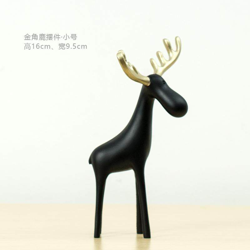 Dream Division Originality Golden Horn Deer Family of Three Decoration Northern Europe 58 Decorations Living Room Library Childrens Room