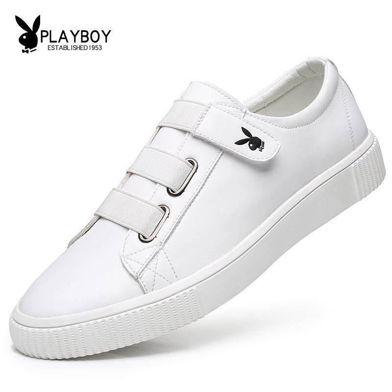 PLAYBOY 2018 Model Baru Musim Panas Versi Korea Pasang Sepatu Putih Kecil Pria Casual Sepatu Putih