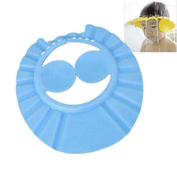 หมวกอาบน้ำเด็ก สำหรับกันฟองแชมพูและน้ำ เข้าตา เข้าจมูกเด็ก ปรับระดับได้ 4 ระดับ.