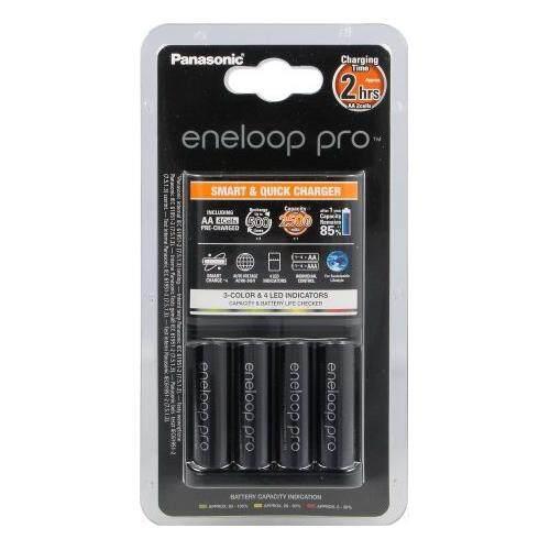 Quick Charger Eneloop Pro 2Hr พร้อม Eneloop Pro AA 2550mAh 4 ก้อน