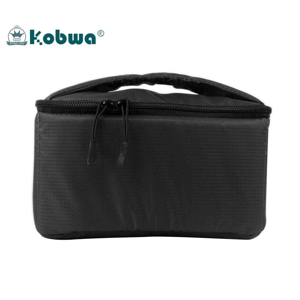 ส่วนลด Kobwa Dslr Camera Insert Case Shockproof Waterproof Padded Partition Protective Bag Cover Travel Black Intl