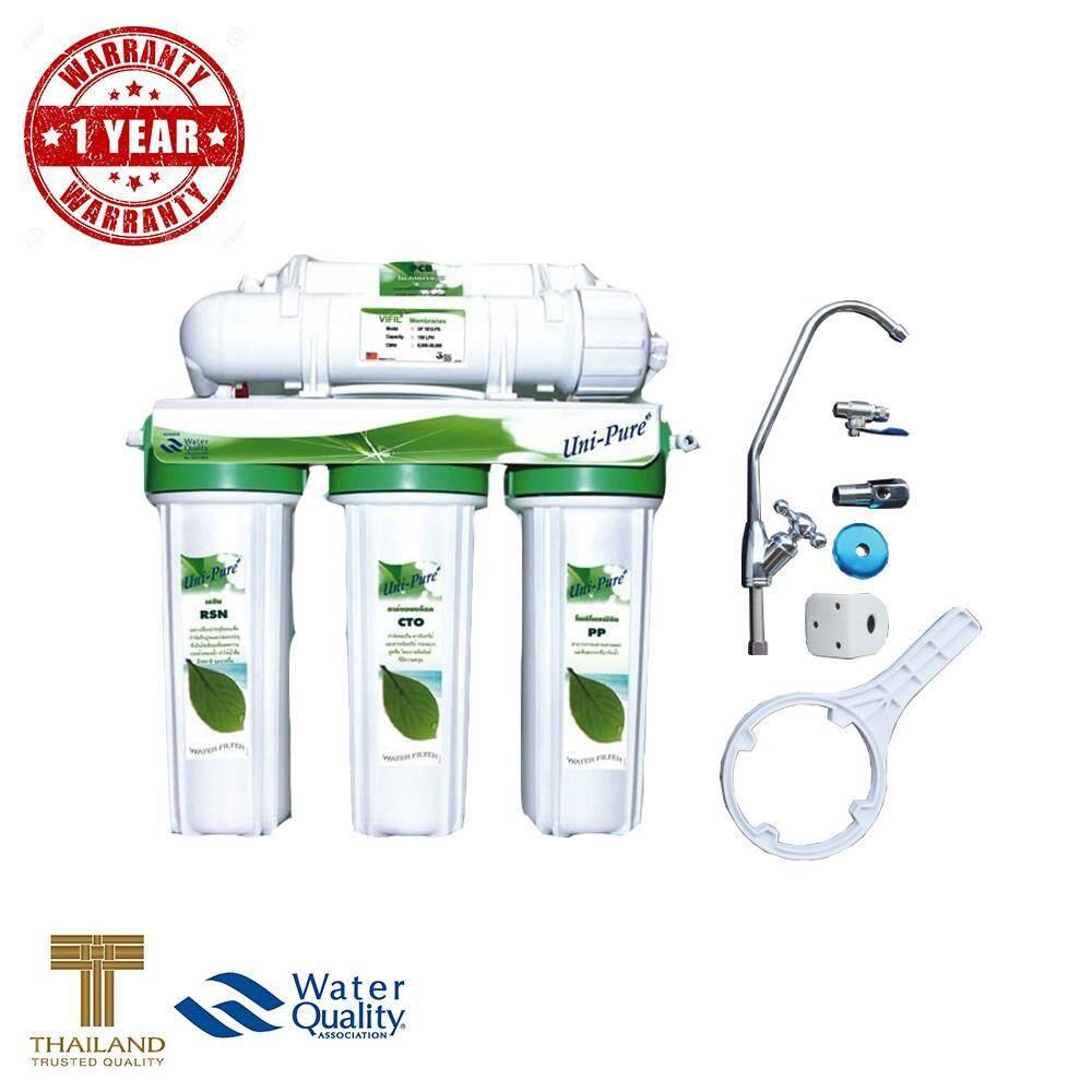 ราคา Uni Pure Green เครื่องกรองน้ำดื่ม 5 ขั้นตอน ระบบ Uf คุณภาพการกรอง 01 ไมครอน รับประกัน 1ปี Unipure ไทย
