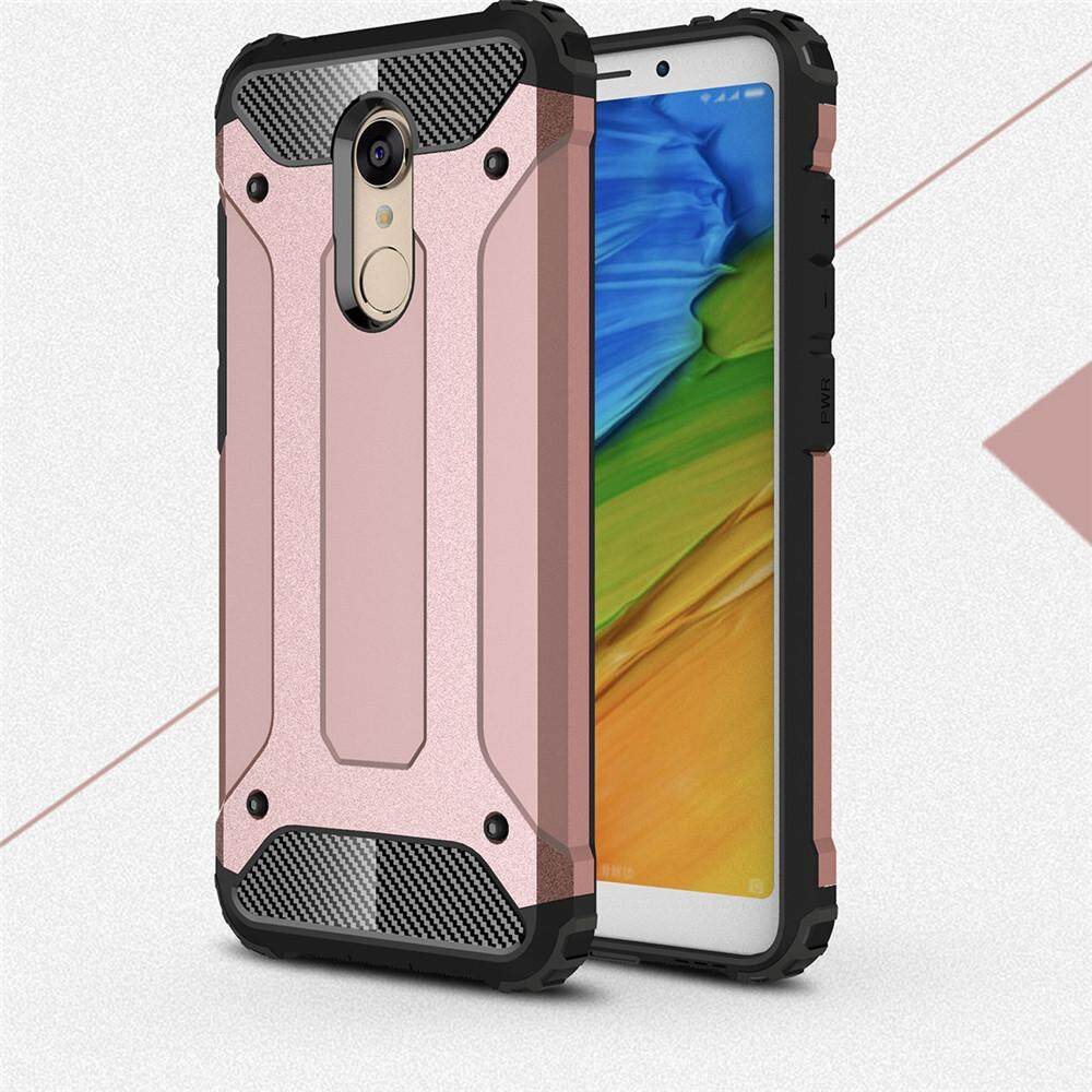 Lenuo Case for Xiaomi Redmi 5 Plus Hybrid Shell Armor Rugged TPU + Hard Plastic Anti