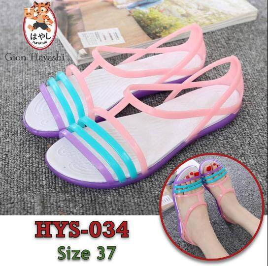 Takayama - รองเท้า รองเท้าแตะ รองเท้าลำลองผู้หญิง รองเท้ารัดส้นแฟชั่น Hys-034 Size 37.