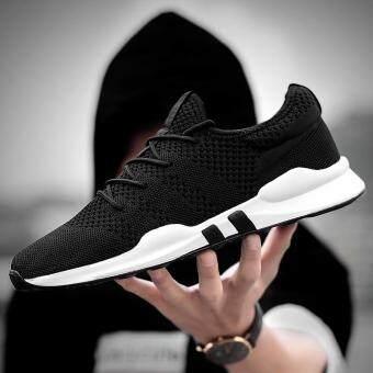 Pencarian Termurah Musim panas Sepatu jaring Gaya Korea tren anak muda  netral penuh hitam sepatu pria 50d7bf7c79