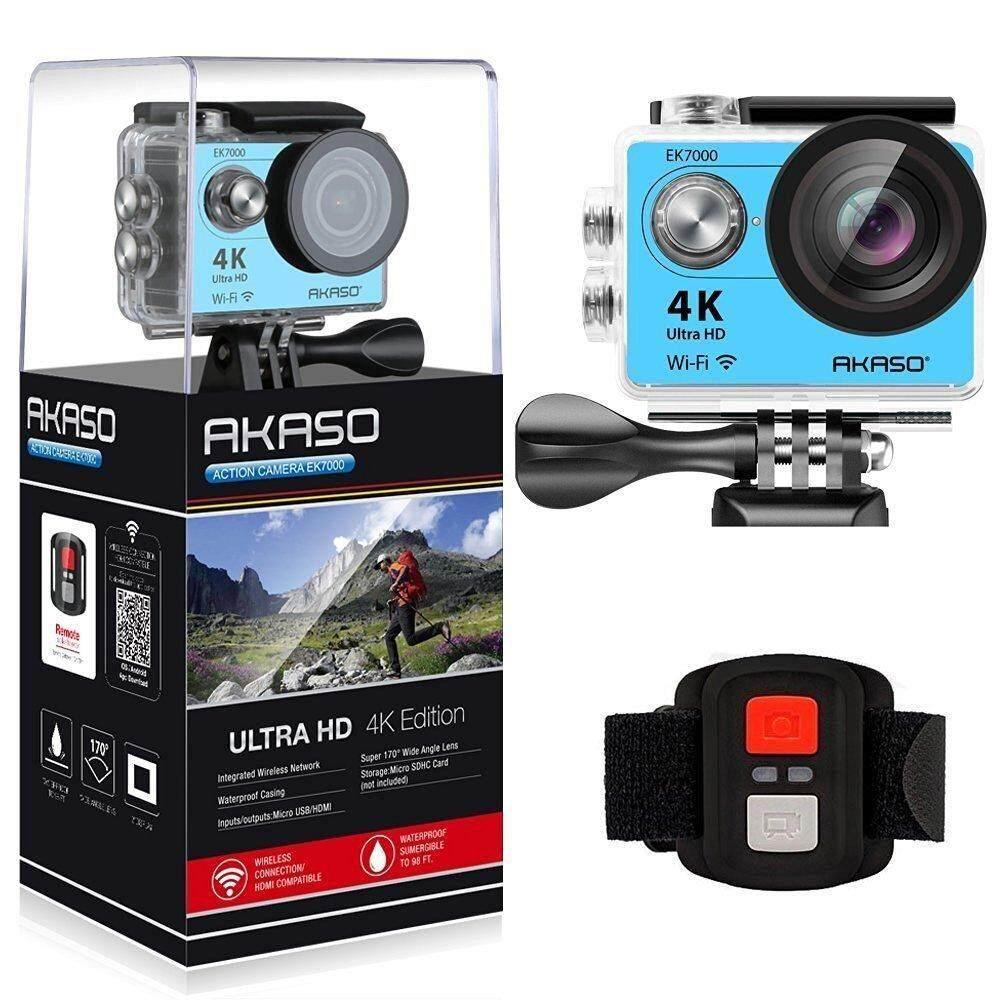 AKASO Silver EK7000 4K WIFI Outdoor Action Camera Video Sports pro Camera wifi Ultra HD Waterproof