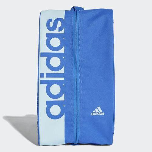 Adidas กระเป๋า ใส่รองเท้า สีน้ำเงิน อาดิดาส Training Shoe Bag Linear Performance Cf5008 Blue (450).