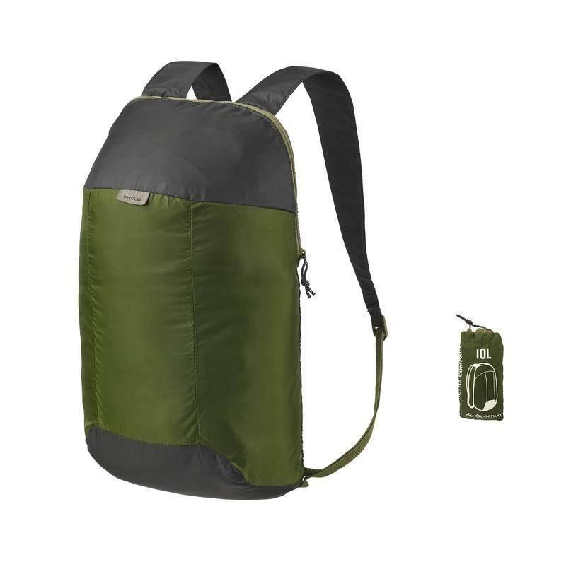 กระเป๋าสำรองขนาดเล็กกะทัดรัดพิเศษ ความจุ 10 ลิตร (สีเขียว).