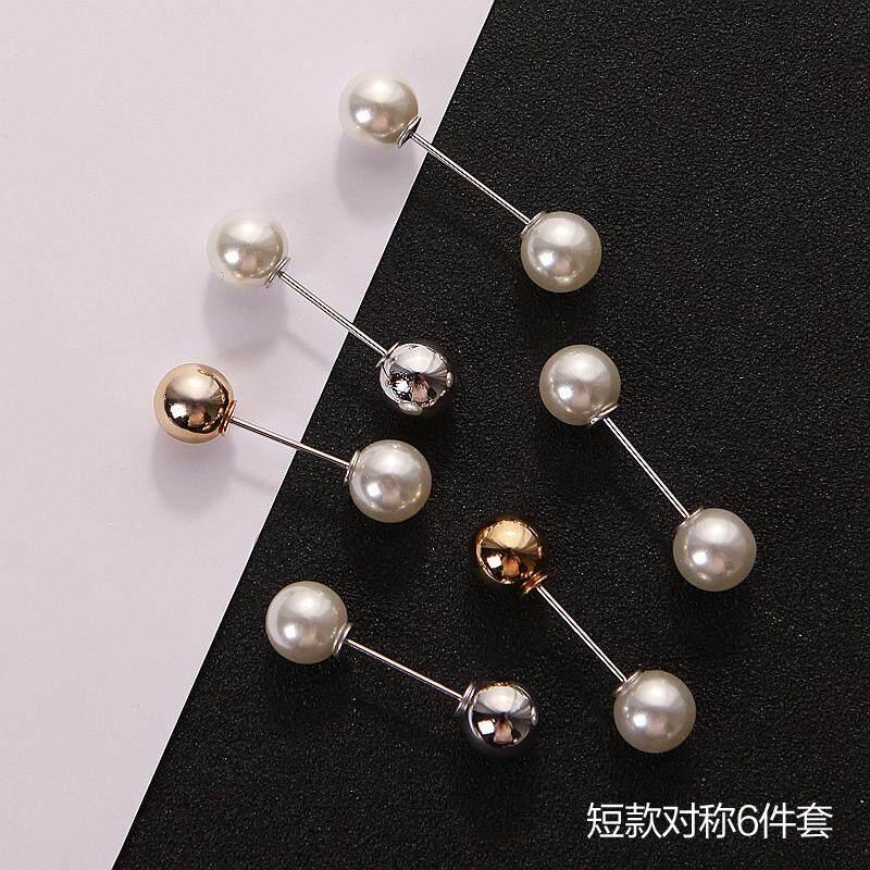 8c7640b723c Japanese Korean A-line Pin Brooch Women's Accessories Sweater Coat Brooch  Cardigan Anti-Exposure