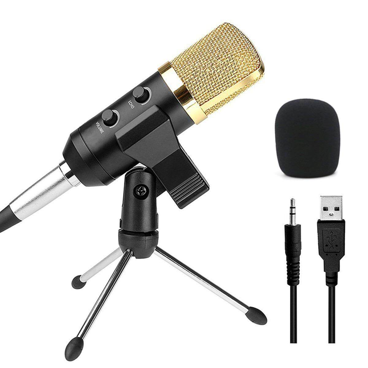 ราคา Audio Usb Condenser Sound Studio Recording Vocal Microphone With Stand Mount New Black Intl Thailand