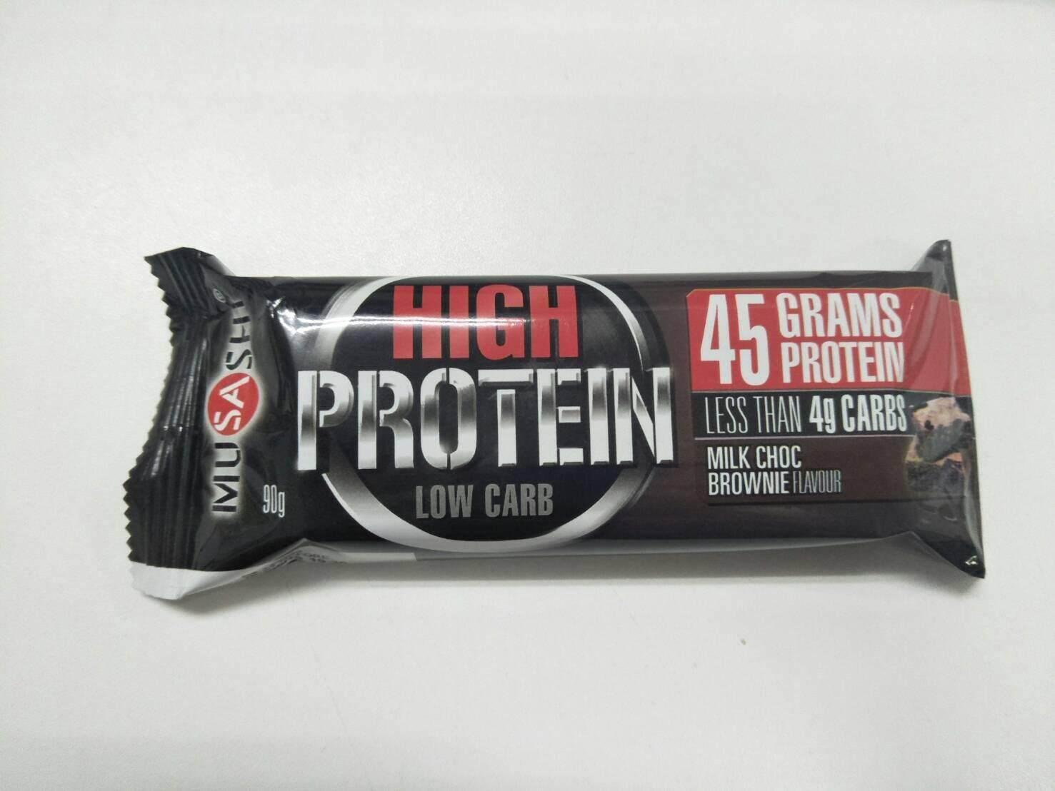 Musashi /// P45 Protein Bar - Chocolate Brownie (1 Bar) จำนวน 6 แท่ง .