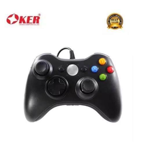 oker จอยเกมส์ xbox joy stick 360 (สีดำ)  .
