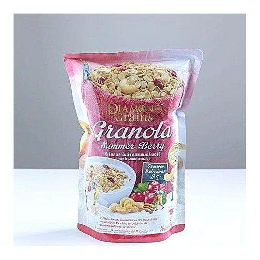 Diamond Grains Summer Berry Granola ซีเรียลกราโนล่า รสซัมเมอร์เบอร์รี่ 220กรัม.