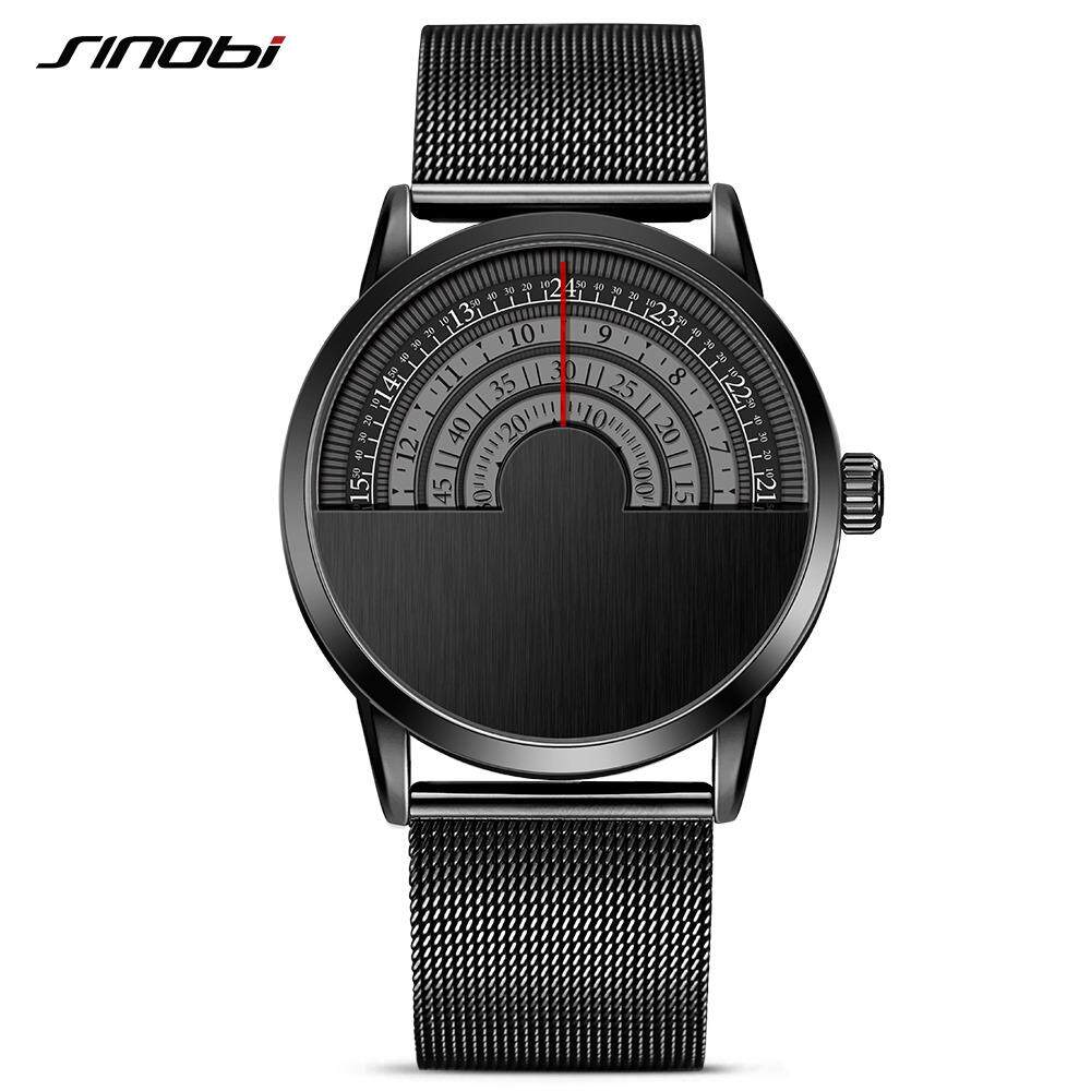 SINOBI 9748 Relogio Masculino Men Fashion Business Watches Rotate Dials Top Brand Luxury Creative Quartz-
