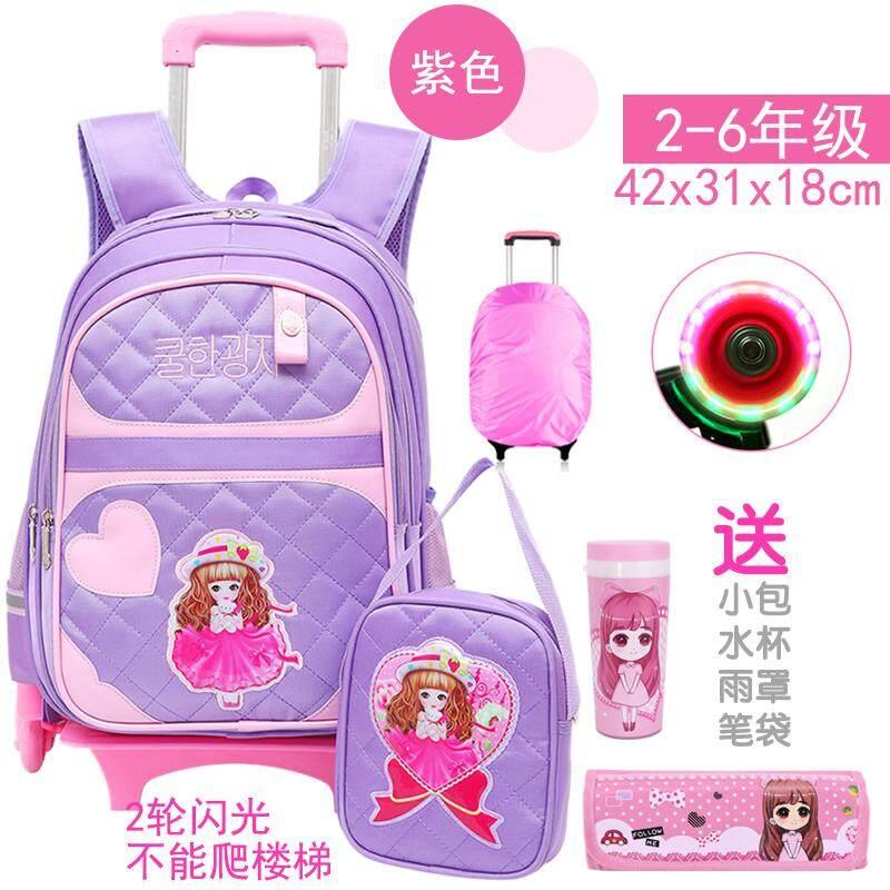 Tarikan Tas 6-12 Tahun anak perempuan tas sekolah anak siswa sekolah dasar perempuan 3