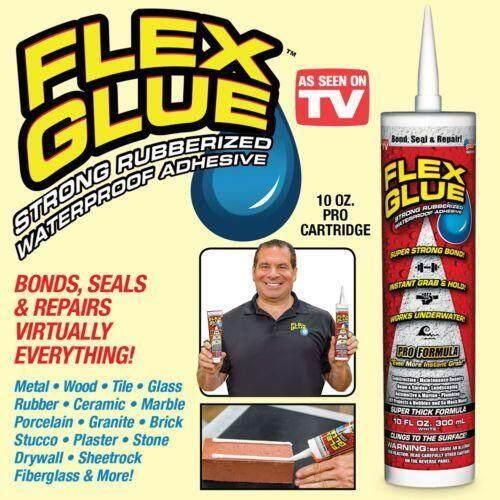 Flex Glue กาวอเนกประสงค์ ชนิดเหนียวพิเศษ ขนาด 300ml กันน้ำ ยืดหยุ่นสุง  ยึดติดได้ทุกพื้นผิว