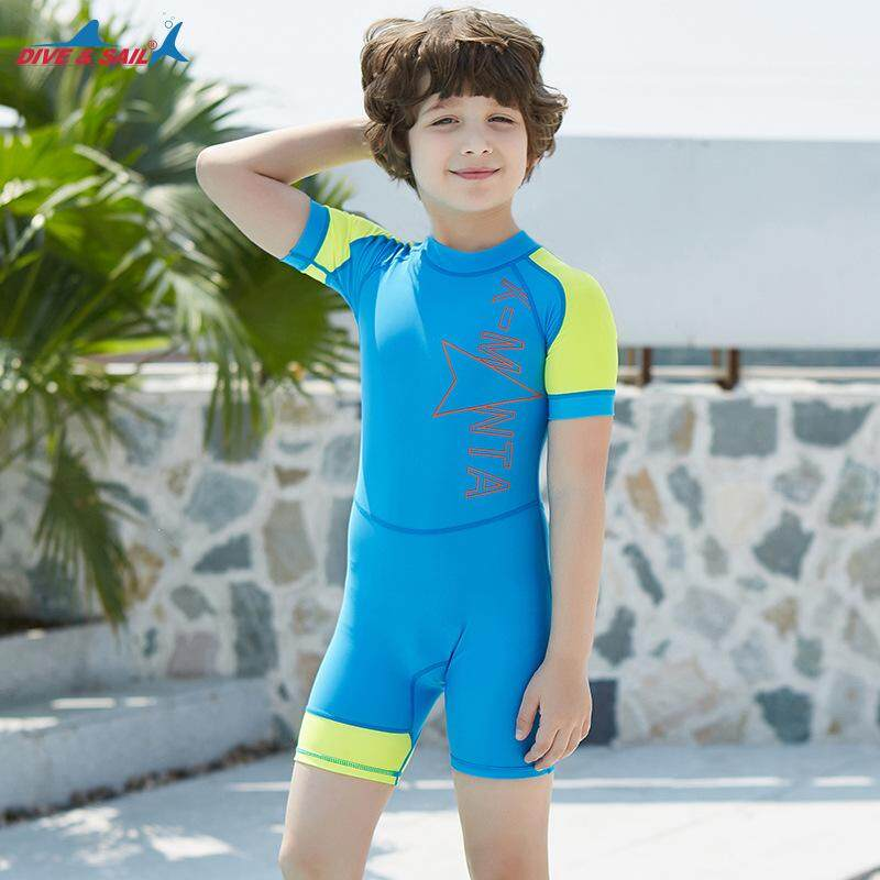 Boys and girls children's quick-drying one-piece swimming diving suit