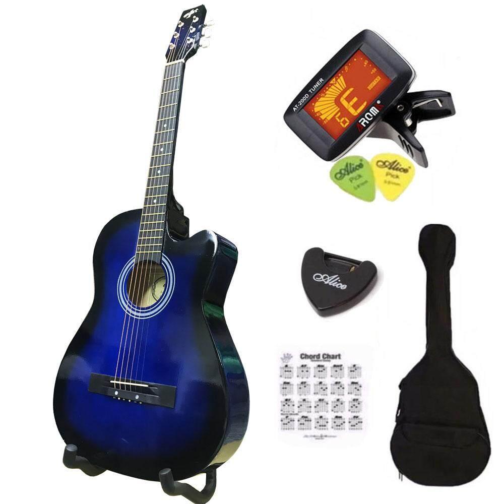 ราคา At First กีตาร์โปร่ง Acoustic Guitar 38 รุ่น Ag 38Bls ลูกบิดเหล็กโครเมี่ยม พร้อมที่ตั้งสาย ที่เก็บปิ๊ก ปิ็ก 2 กระเป๋า ตารางคอร์ด เป็นต้นฉบับ