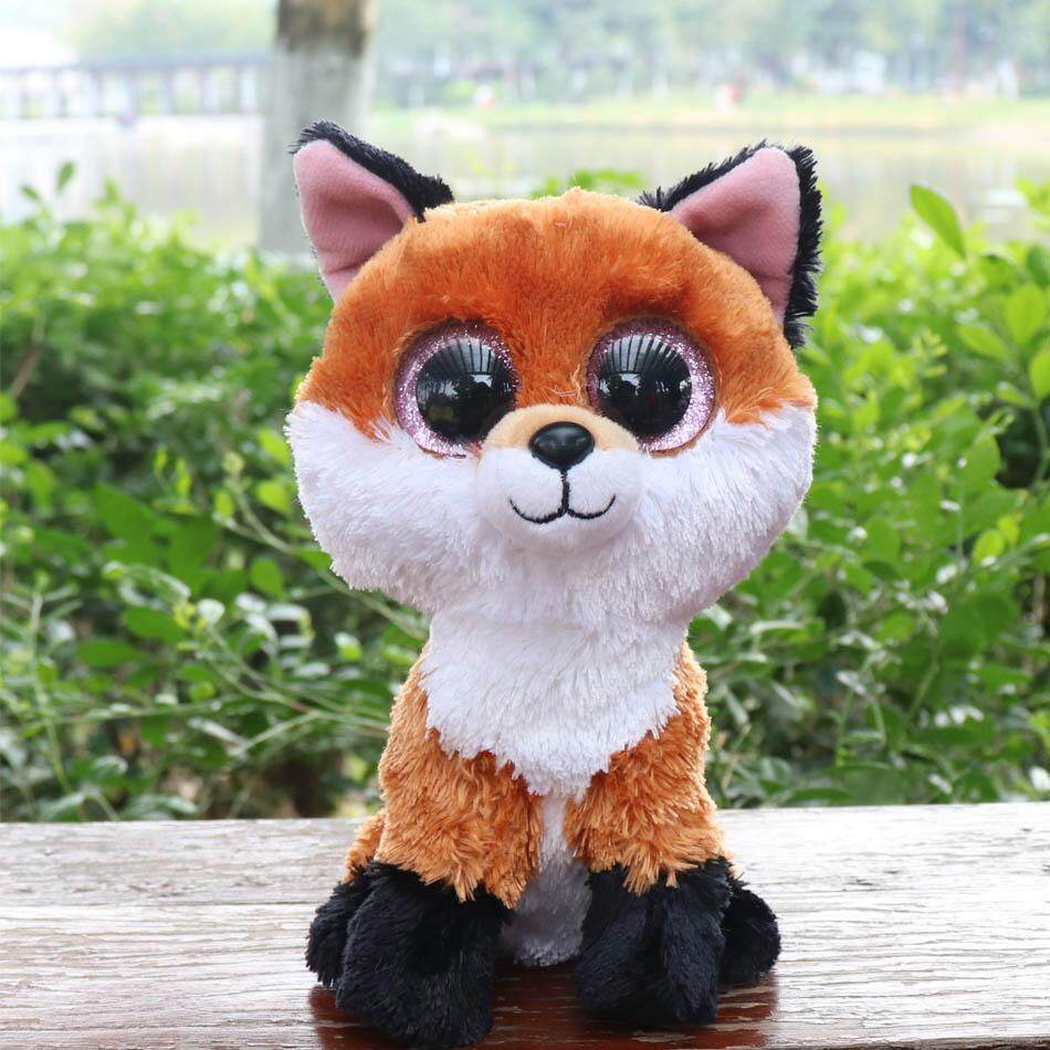 b571379394c Ty Beanie Boos 6-Inch Slick Brown Fox Plush Beanie Baby Plush Stuffed Doll  Toy