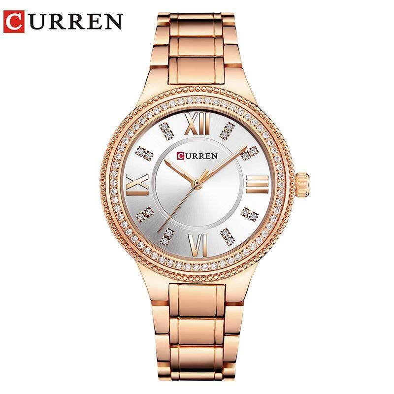 eb5ad03f2d6 CURREN 9004 Top Luxury Brand Women Quartz Watch Crystal Design Ladies  wristwatches relogio feminino - intl