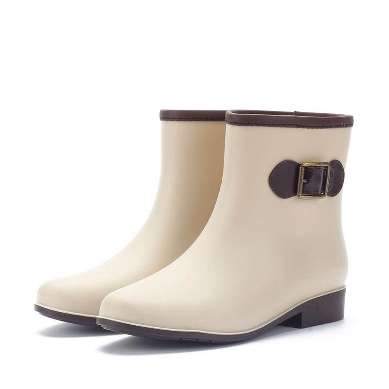 Musim semi dan musim panas jelly sepatu boots hujan wanita Korea Selatan  modis Pendek Martin sepatu 64c5ee078c