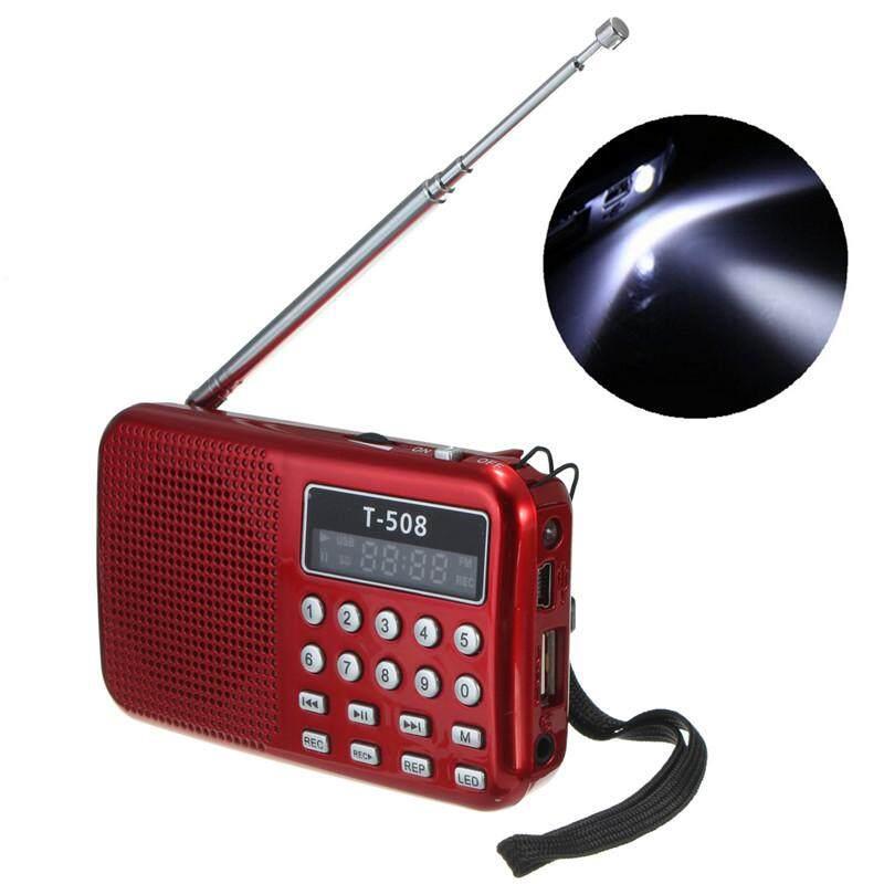 ราคา T508 มินิสเตอริโอแบบพกพา Led ลำโพงวิทยุ Fm เชื่อมต่อ Usb การ์ด ถ้าเขา Mp3 เล่นดนตรี สีแดง ใหม่