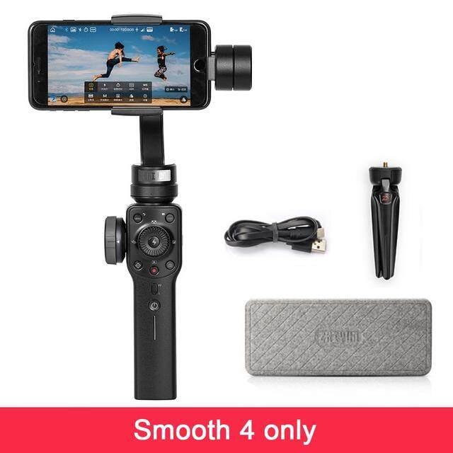 Zhiyun Zhi Yun Halus 4 Smartphone Stabilizer Genggam Tripod 3-Axis Portable untuk iPhone X 8 7 6 Plus ()