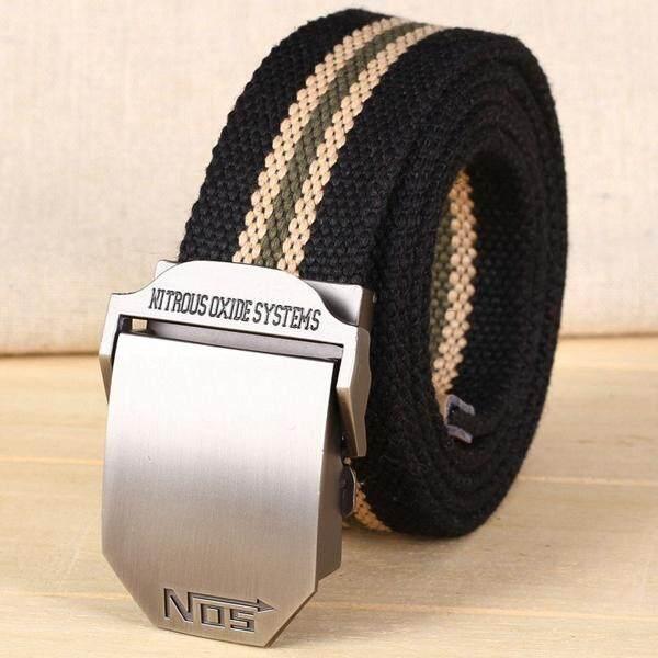 ทบทวน Trusty เข็มขัดผู้ชาย Men S Belt ดีไซน์ใหม่ เข็มขัดผ้าแคนวาส 144X สีดำ