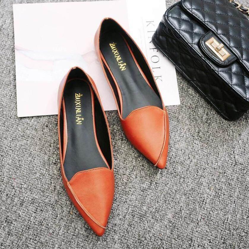 2020 Mẫu Mới Đầu Nhọn Giày Bệt Nữ Mũi Nông Giày Giày Cổ Thấp Giày Lười Giày Thuyền Mùa Xuân Thu Giản Dị Bốn Mùa Giầy Nữ giá rẻ
