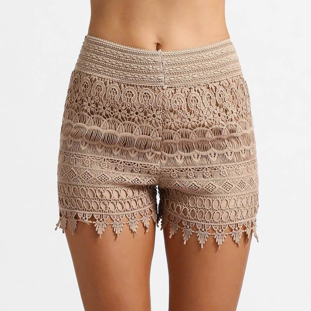 68d5ee5a7b9 Aiipstore Women Summer High Waisted Lace Short Hot Pants Lady Summer Beach  Shorts Trousers