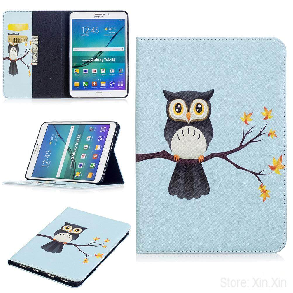 Cute Owl Tree Case For Galaxy Tab S2 8.0 T715 Pu Leather Cover With Wallet Card Holder By Xin.xin.