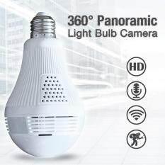 กล้องรักษาความปลอดภัย 960P bulb light IP camera 360 degree 3D VR Wireless wifi camera 1.3MP Home Security กล้องและระบบรักษาความปลอดภัย