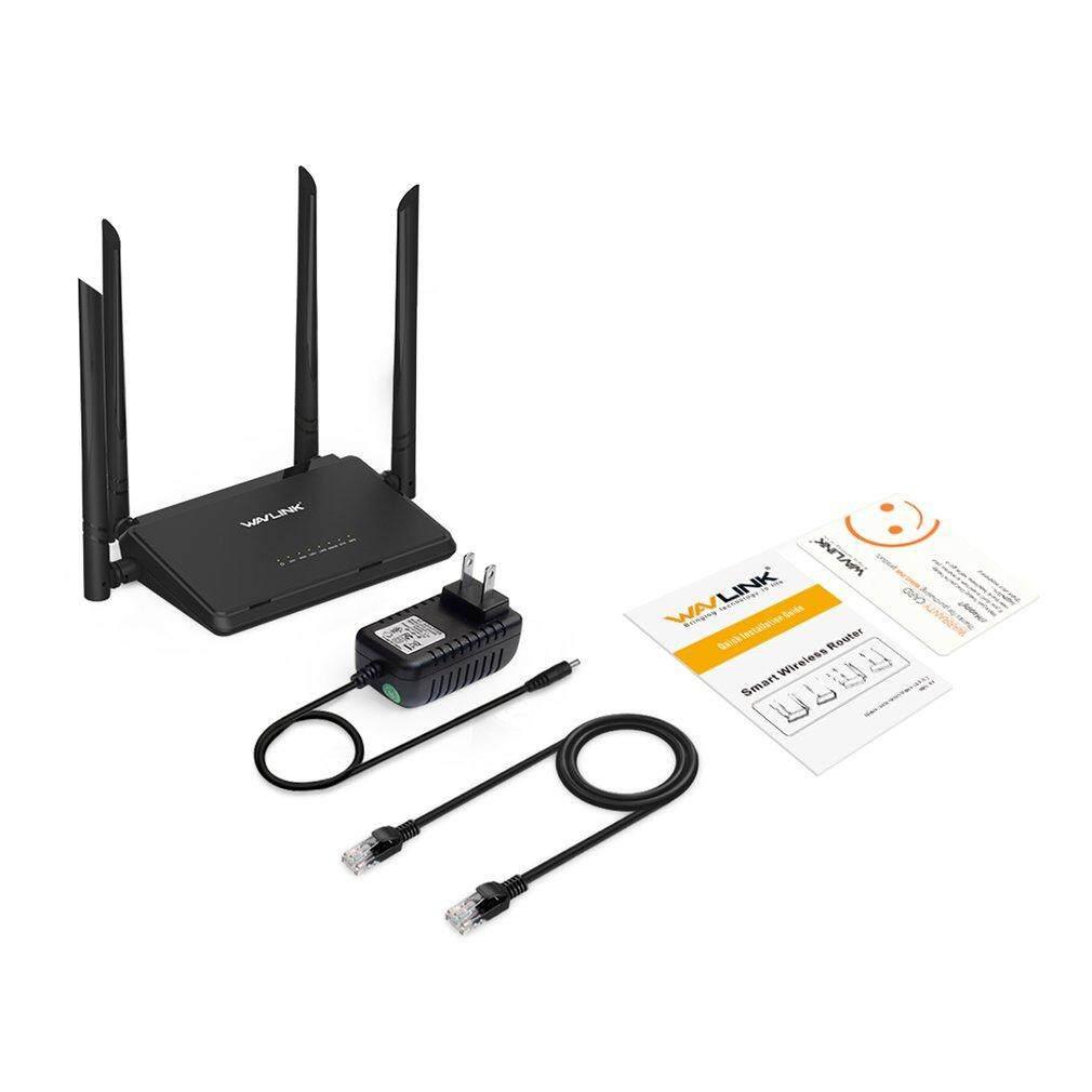 Lalove Wavlink Ws-Wn529r2p 300 Mbps 4 เสาอากาศ Router 802.11n 4x5dbi สมาร์ทอินเตอร์เน็ตไร้สายเราเตอร์ไร้สาย Repetidor เครื่องขยายเสียงสีดำ Us.