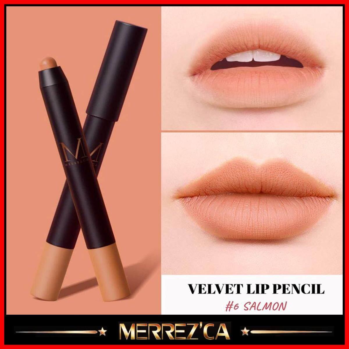 Merrezca Velvet Lip Pencil 1.3g เมอเรสก้า ลิปดินสอ กันน้ำ เนื้อแมท.