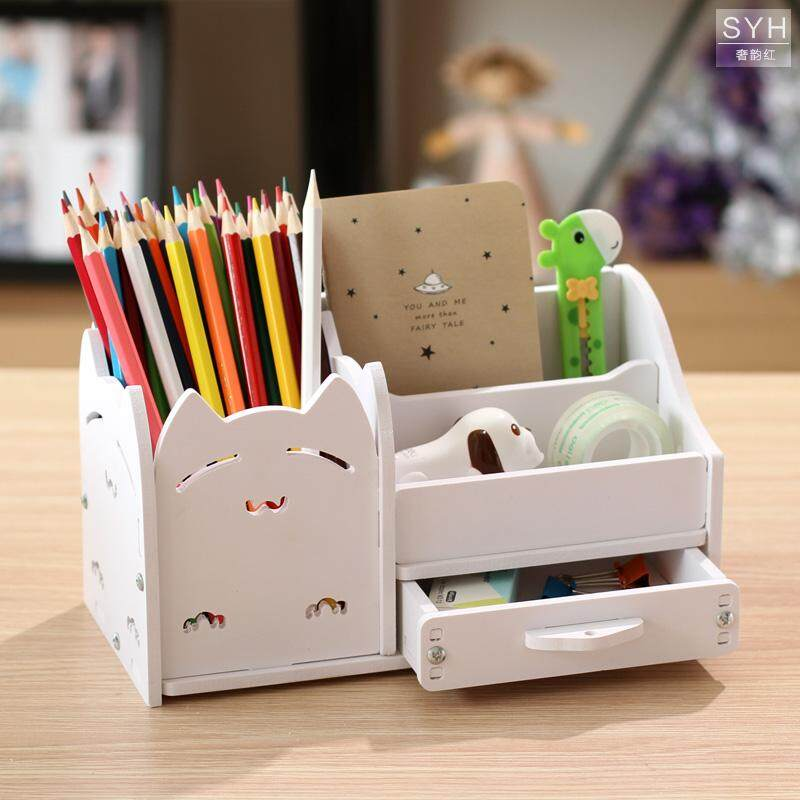 Multi Function Pen Container Creative Fashion South Korea Hipster Students  Cute Children Desktop Ornaments Small