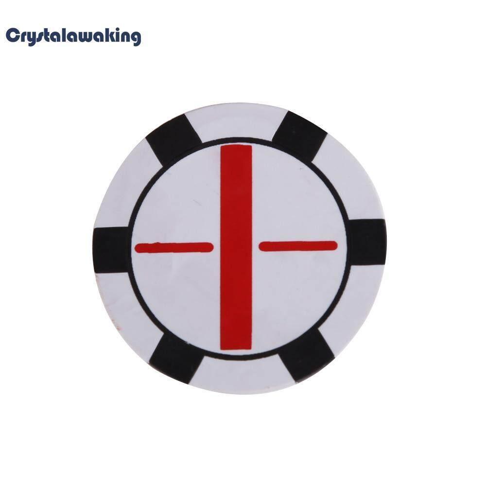 แบนลูกกอล์ฟ Marker Push Shot 1.5 นิ้วอุปกรณ์เสริมกอล์ฟสีขาว.