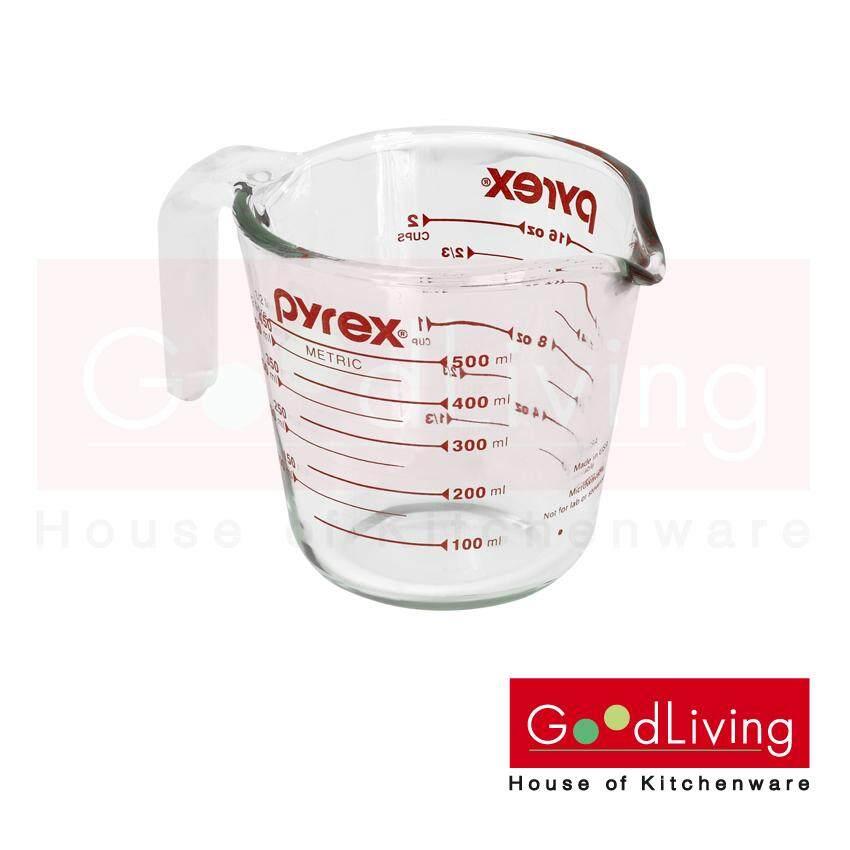 Pyrex Measuring Cup ถ้วยตวงแก้วขนาด 500 ml. รุ่น P-00-516N (สีแดง)