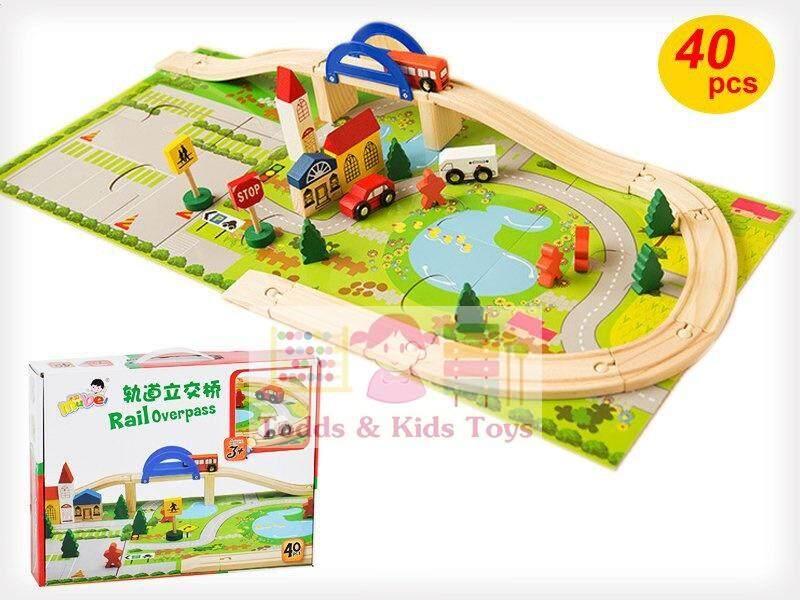 โปรโมชั่น Todds Kids Toys ของเล่นเสริมพัฒนาการ บล็อกไม้ชุดสร้างเมือง Rail Overpass เมืองจำลอง Todds Kids Toys ใหม่ล่าสุด