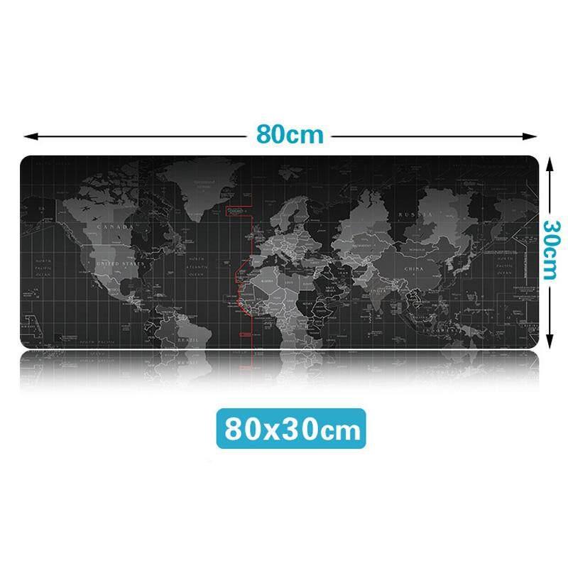 Igootech Mousepads Big Size. 80 X 30 Cm. แผ่นรองเม้าส์ ขนาดใหญ่ ใช้งานดี ลายแผนที่โลก.