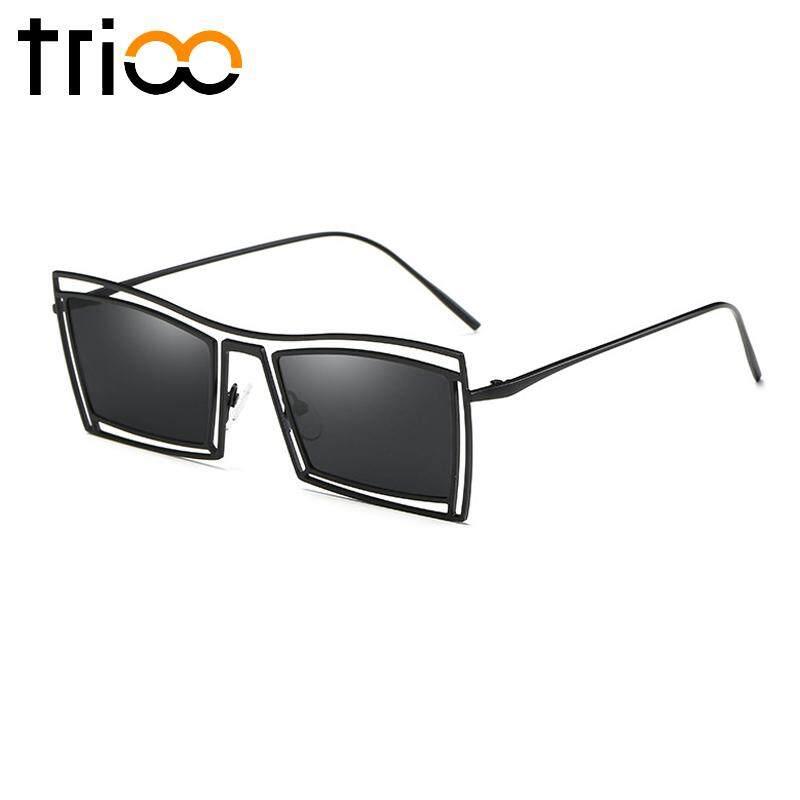 TRIO Mengemudi Kacamata Terpolarisasi Untuk Pria Logam Persegi Panjang 2018 Kacamata Fashion untuk Pria Merek Desainer Lensa HD UV400 Shades Metallic Lilac